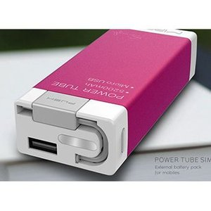 Mipow Power tube Simple 5200モバイル パワー  携帯充電器 (レッド) dgmode