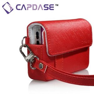 CAPDASE Luxi -100Bコンパクトカメラ用レザーケース(レッド)|dgmode