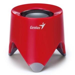 Genius  SP-i165  ポータブル USB充電式ミニステレオスピーカー  (レッド)|dgmode
