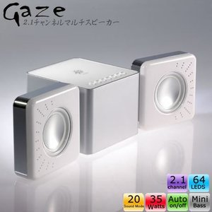 VOGUE TECH GAZE 2.1チャンネルマルチスピーカー  for iPod/MP3/PC  LED付き (ホワイト)|dgmode