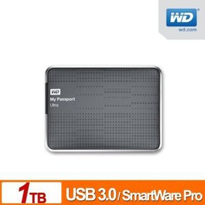 WD(Western Digital) My Passport Ultra USB3.0対応 1TB 2.5インチポータブルハードディスク (シルバー )|dgmode