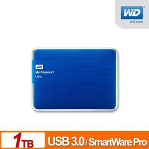 WD(Western Digital) My Passport Ultra USB3.0対応 1TB 2.5インチポータブルハードディスク (ブルー )|dgmode