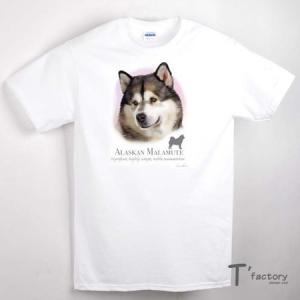 【メンズ】アラスカンマラミュート 犬 動物Tシャツ【Lサイズ】|dgmode