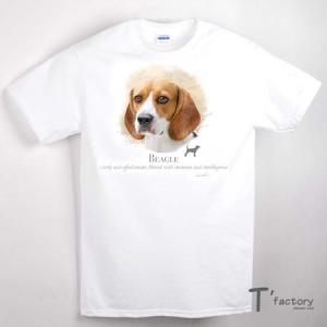 【メンズ】ビーグル 犬 動物Tシャツ【Sサイズ】|dgmode