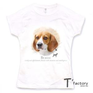 【レディース】ビーグル 犬 動物Tシャツ【Lサイズ】|dgmode