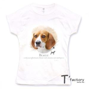 【レディース】ビーグル 犬 動物Tシャツ【Sサイズ】|dgmode