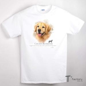 【メンズ】ゴールデンレトリバー 犬 動物Tシャツ【Mサイズ】|dgmode