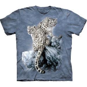 【THE MOUNTAIN】【動物 Tシャツ】(白ヒョウ) High on Top【Lサイズ】 dgmode