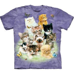 【THE MOUNTAIN】【動物 Tシャツ】(10匹の子猫たち) 10 Kittens【Lサイズ】 dgmode