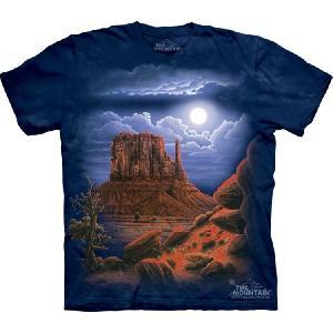 【THE MOUNTAIN】【キャラクター・イラスト Tシャツ】(砂漠の夜景) Desert Nightscape【Lサイズ】 dgmode