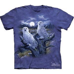 【THE MOUNTAIN】【動物 Tシャツ】(シロフクロウ) Snowy Owls【Mサイズ】 dgmode