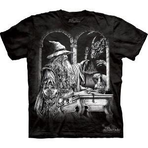 【THE MOUNTAIN】【キャラクター・イラスト ドラゴン Tシャツ】(ウィザード×ドラゴン) Wizard & Dragon【Mサイズ】 dgmode