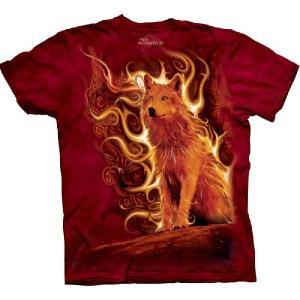 【THE MOUNTAIN】【動物 Tシャツ】(狼×フェニックス) PhoenixWolf【Mサイズ】 dgmode