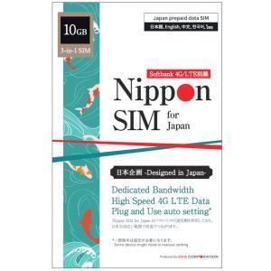 (使用期限:2021/10/6)Nippon SIM プリペイドsim simカード 日本 10GB...