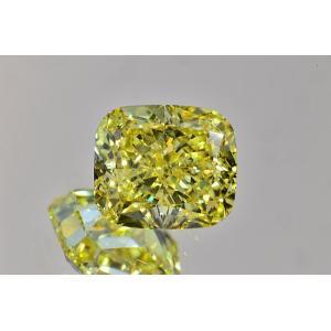 ファンシーインテンスイエロー ダイヤモンドルース クッションカット ほぼ0.6カラット VS1 非常に透明感の強い証明お写真つき ダイヤGIA鑑定書 刻印つき|diadia