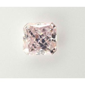 はんなり桜ピンク!ファンシーピンクダイヤモンド 0.13カラット ラディアントカット 四角 スクエア|diadia