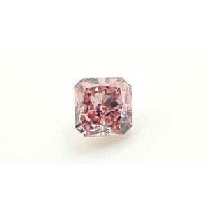 ハッピーピンク!ファンシーインテンスピンクダイヤモンド ルース 0.137カラット ラディアントカット SI2|diadia