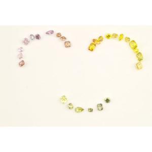 ハッピーカラーダイヤBox!スマイル付き(笑)ファンシーディープピンク パープル オレンジ イエロー グリーンダイヤモンド|diadia