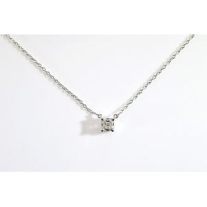 アッシャーカットダイヤ一粒ネックレス 0.5カラットFカラーVVS1 上品なダイヤネックレス|diadia