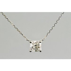きらめきが特別な輝き!ラディアントカットダイヤモンド ペンダント 0.5ct 上品な一粒ダイヤモンドネックレス プラチナ|diadia