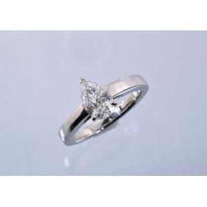 クールビューティ!ペアシェイプダイヤリング 上品な一粒ダイヤモンドリング プラチナ|diadia