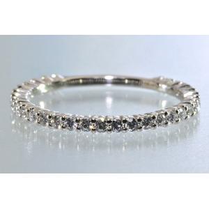 ダイヤモンド エタニティリング プラチナ ハートアロー ダイヤ専門店がお届けします 0.3カラット 前後1.4mm幅前後 diadia