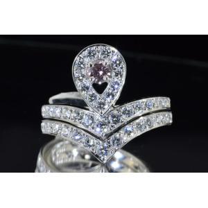 アーガイルピンクダイヤ リング 0.1カラット とは思えない華やかな貴婦人のリング プラチナ|diadia