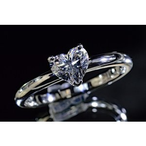 0.4カラット 0.5カラット ハートシェイプ ダイヤモンドリング 指輪 プラチナ|diadia