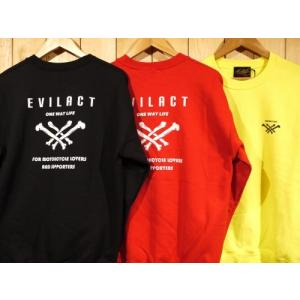 EVILACT イーブルアクト CLOSS BONE LOGO SWEATSHIRT スウェットシャツ|dialog-ca