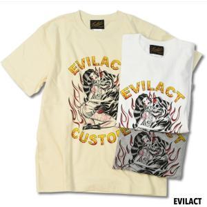 EVILACT イーブルアクト THUNDER ALLEY×EVILACT CUSTOM TEE 半袖Tシャツ|dialog-ca