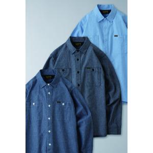 BLUCO ブルコ CHAMBRAY WORK SHIRTS L/S シャンブレーワークシャツ OL-121 dialog-ca