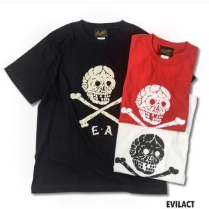 EVILACT イーブルアクト WEIRD COLLECTIONS × EVILACT SKULL TEE 半袖Tシャツ|dialog-ca