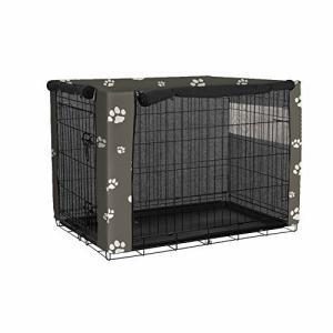 QEES ペットサークルカバー ペットケージカバー 犬小屋ケージカバー 通気 シール空間 前開き 側開き ファスナ|diamod-snap987