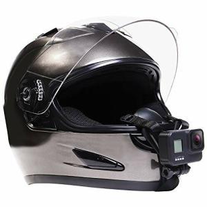 GoPro ゴープロ アクセサリー ヘルメットマウント hero9 hero8 その他アクションカメラ用 (顎マウント)|diamod-snap987