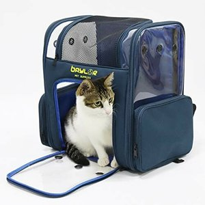 bingopaw 猫キャリーバッグ リュック 大型 2匹 大容量 透明 ペットキャリーケース うさぎ/小型犬/鳥 9kg以下 猫リ|diamod-snap987