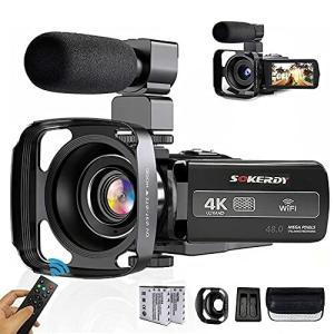 (4K、3000万ピクセル) ビデオカメラ 30MP18倍デジタルズーム広角レンズデジタルカメラ3インチIPSパネルYouTube耐衝|diamod-snap987