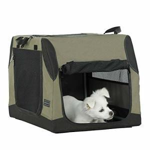 Petsfit 折りたたみソフトクレート ポータブルケージ ペットハウス 犬 猫 ポータブルケージ 持ち手付き|diamod-snap987