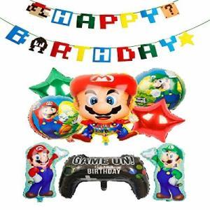 スーパーマリオ 誕生日 飾り付け パーティー セット 可愛い キャラクター 子供 男の子 3 女の子|diamod-snap987