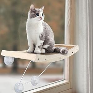 CatRomance猫窓ベッド、強い吸盤付きより頑丈のキャットハンモック 室内日光浴にぴったり 耐荷重18KG 安全 ス|diamod-snap987