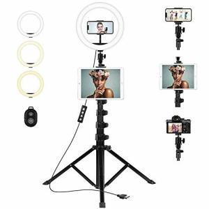 リングライト 自撮りライト リングライト 三脚 スマホ タブレット 三脚 ライト 外径10.2インチ 10段階調光 3色|diamod-snap987