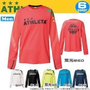 サッカーウェア アスレタ ATHLETA カラー プラクティスシャツ ロンT 長袖 ath-17fw|diamond-sports