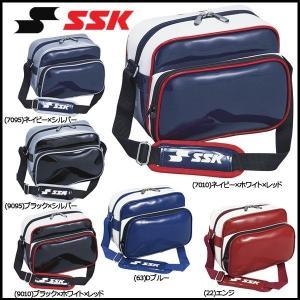野球 SSK エスエスケイ  エナメルミニショルダーバッグ 合成皮革製(PVCエナメル加工) -容量:約6L- diamond-sports