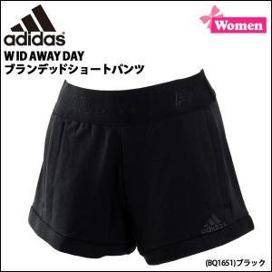 レディース スポーツカジュアル アディダス adidas W ID AWAY DAY ブランデッドショートパンツ 柔らかスウェット|diamond-sports