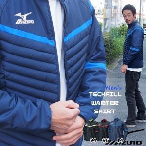 サッカーウェア トレーニング ジャケット メンズ ミズノ MIZUNO テックフィルウォーマーシャツ【old-coat】|diamond-sports