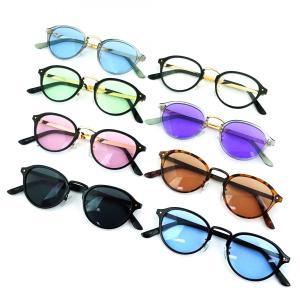 全8色 サングラス メンズ ブランド 7JEWELRY ボストン サングラス ブラック ブルー ピンク グリーン ブラウン パープル クリア レンズ 紫外線カット UVカット|diamonddust