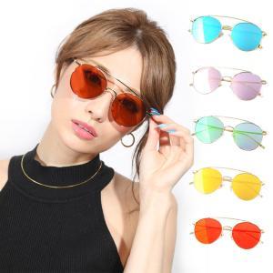 サングラス メンズ レディース ブランド グリーン イエロー ブルー オレンジ ピンク ミラー レンズ おしゃれ 紫外線カット 7JEWELRY ティアドロップ サングラス|diamonddust