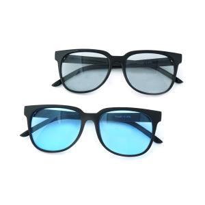 サングラス メンズ レディース ブランド 大きめ ブルー グレー カラーレンズ 薄い色 UVカット サングラスケース 7JEWELRY ウェリントン サングラス|diamonddust