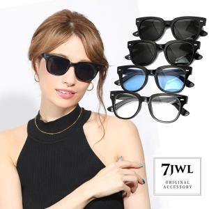 人気 メンズ ブランド サングラスケース 7JEWELRY ウェリントン サングラス ブラック スモーク ブルー クリア レンズ UVカット|diamonddust