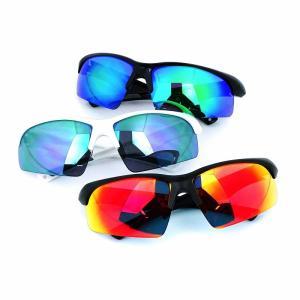 人気 メンズ ブランド 7JEWELRY スポーツ サングラス レッド グリーン パープル ミラー レンズ 紫外線カット UVカット|diamonddust