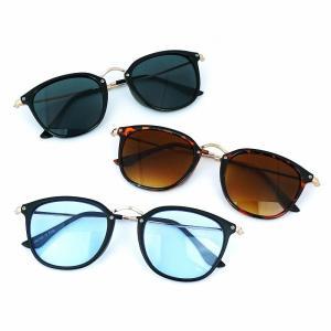 サングラス メンズ レディース ブランド 大きめ ブルー カラーレンズ 薄い色 サングラスケース 7JEWELRY ボストン サングラス|diamonddust